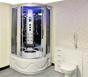 "LuxuryShower  L80S02AS (HEAVY DUTY) STEAM SHOWER WITH  BLUETOOTH AUDIO 41"" x 41"" x 85"" - Image 1"
