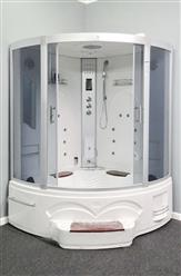 "LuxuryShowerRoom L90S11WS-HD (HEAVY DUTY) Corner Steam Shower 60"" x 60"" x 90"" - Image 2"